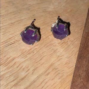 Silpada Amethyst Post Earrings